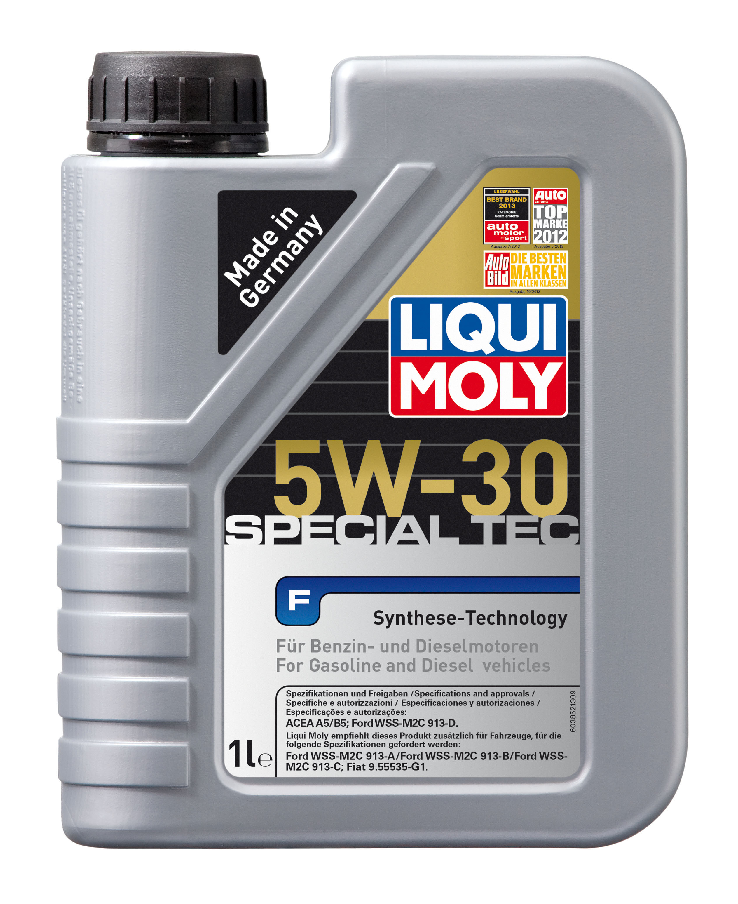 Масло Моторное масло LIQUI MOLY Special Tec F 5W-30 (арт. 8063)