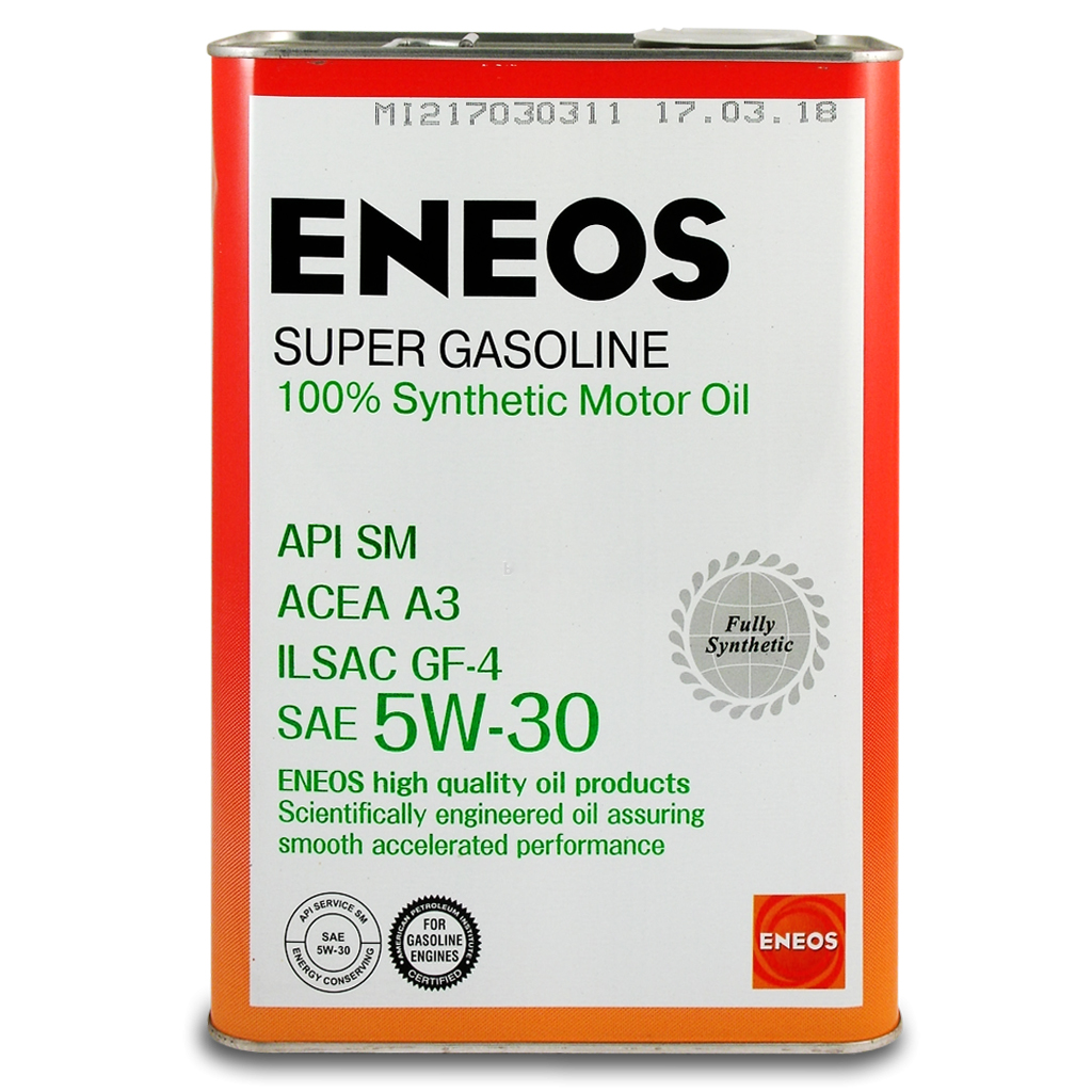 Масло Моторное масло Eneos Super Gasoline SM 5w 30